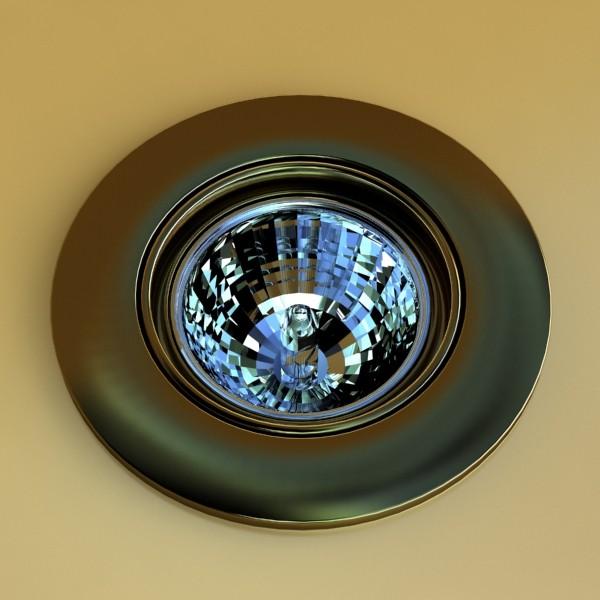 10 halogen lampanın toplanması 3d model 3ds max dwg obj 134759