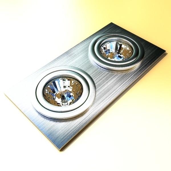 10 halogen lampanın toplanması 3d model 3ds max dwg obj 134770