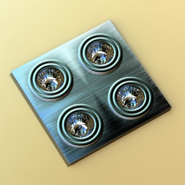 10 halogen lampanın toplanması 3d model 3ds max dwg obj 134773