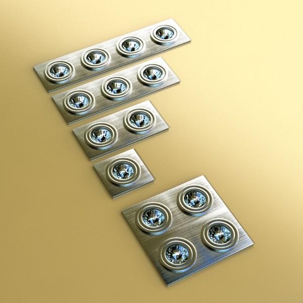 10 halogen lampanın toplanması 3d model 3ds max dwg obj 134776
