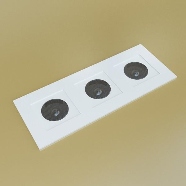 10 halogen lampanın toplanması 3d model 3ds max dwg obj 134787