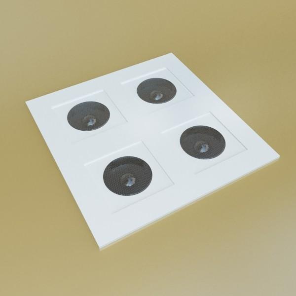 10 halogen lampanın toplanması 3d model 3ds max dwg obj 134789