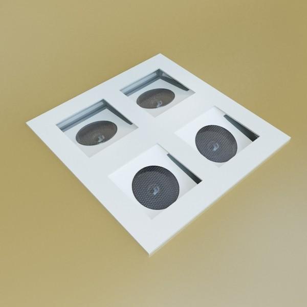 10 halogen lampanın toplanması 3d model 3ds max dwg obj 134790