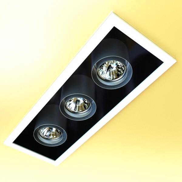 10 halogen lampanın toplanması 3d model 3ds max dwg obj 134796