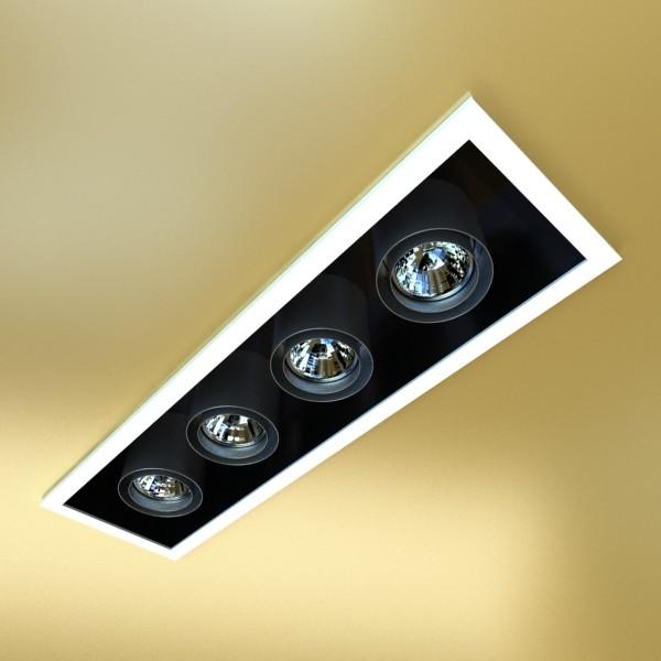 10 halogen lampanın toplanması 3d model 3ds max dwg obj 134802