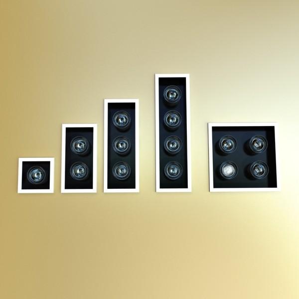 10 halogen lampanın toplanması 3d model 3ds max dwg obj 134803