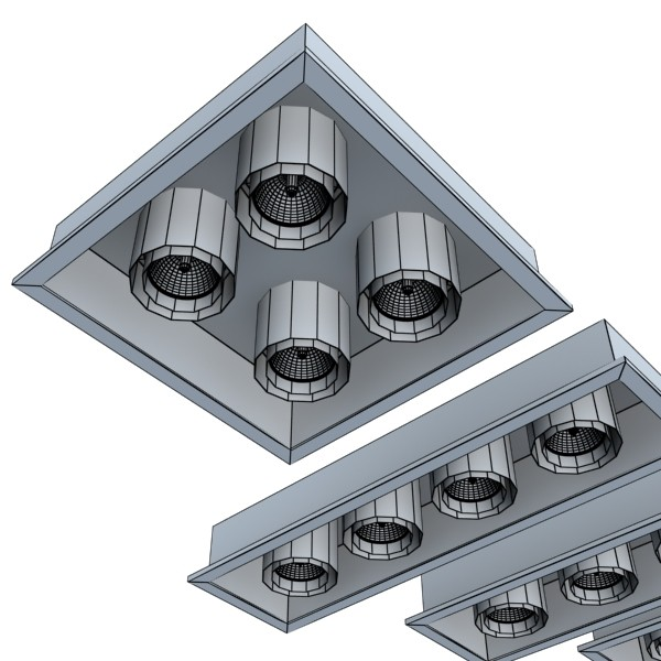 10 halogēna lampu kolekcija 3d modelis 3ds max dwg obj 134805