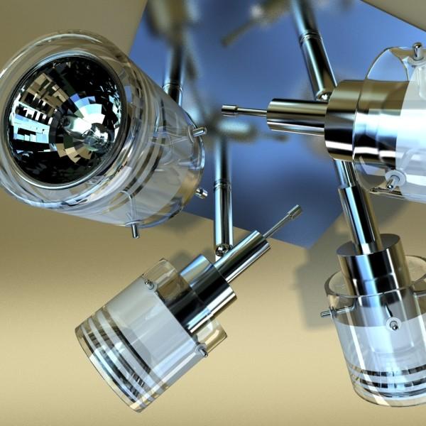 10 halogen lampanın toplanması 3d model 3ds max dwg obj 134809