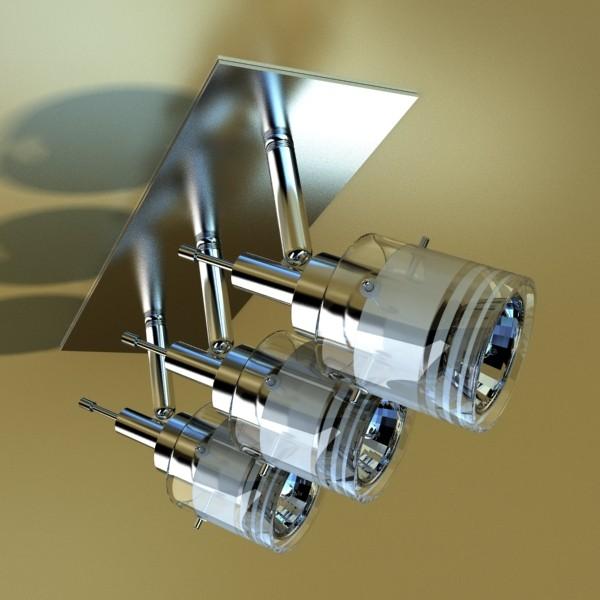 10 halogen lampanın toplanması 3d model 3ds max dwg obj 134814