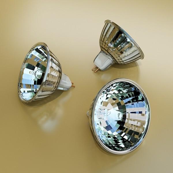 10 halogen lampanın toplanması 3d model 3ds max dwg obj 134818