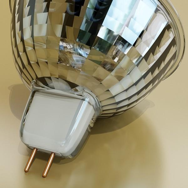 10 halogen lampanın toplanması 3d model 3ds max dwg obj 134820