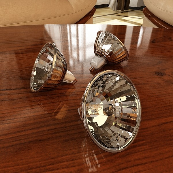 10 halogen lampanın toplanması 3d model 3ds max dwg obj 134821