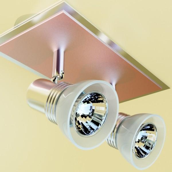 10 halogen lampanın toplanması 3d model 3ds max dwg obj 134837