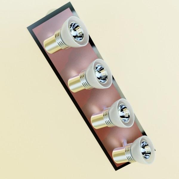 10 halogen lampanın toplanması 3d model 3ds max dwg obj 134839