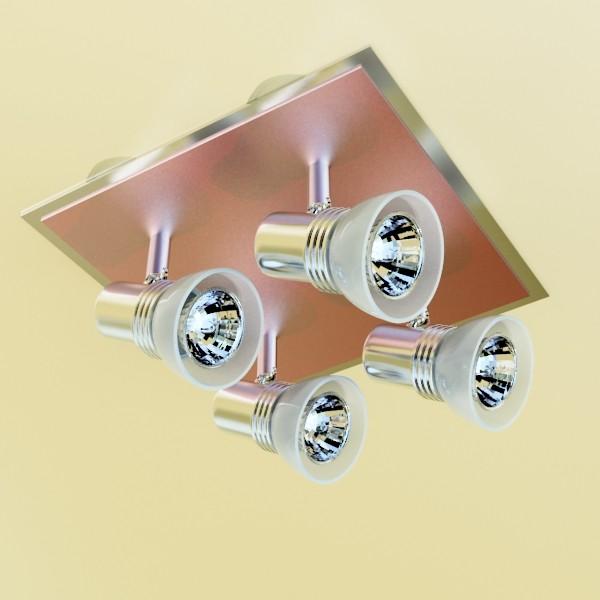 10 halogen lampanın toplanması 3d model 3ds max dwg obj 134840
