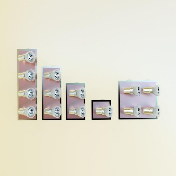 10 halogen lampanın toplanması 3d model 3ds max dwg obj 134841