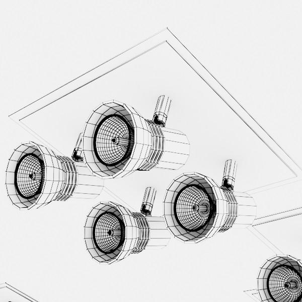 10 halogen lampanın toplanması 3d model 3ds max dwg obj 134843