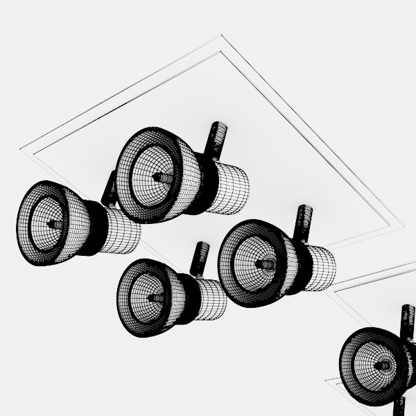 10 halogen lampanın toplanması 3d model 3ds max dwg obj 134844