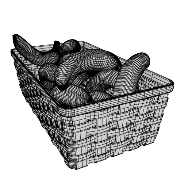 3D Model Bananas in Wicker Basket 09 ( 93.44KB jpg by VKModels )