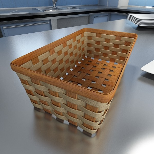 3D Model Bananas in Wicker Basket 09 ( 81.25KB jpg by VKModels )