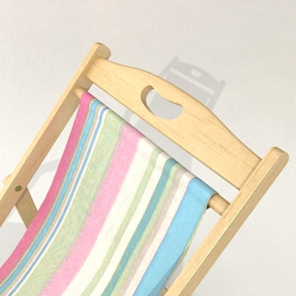 3D Model Beach Chair High Detail Realistic ( 55.6KB jpg by VKModels )