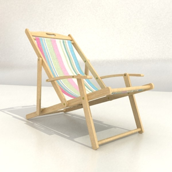 3D Model Beach Chair High Detail Realistic ( 47.1KB jpg by VKModels )