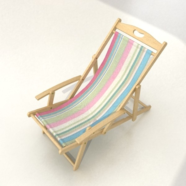 3D Model Beach Chair High Detail Realistic ( 48.05KB jpg by VKModels )