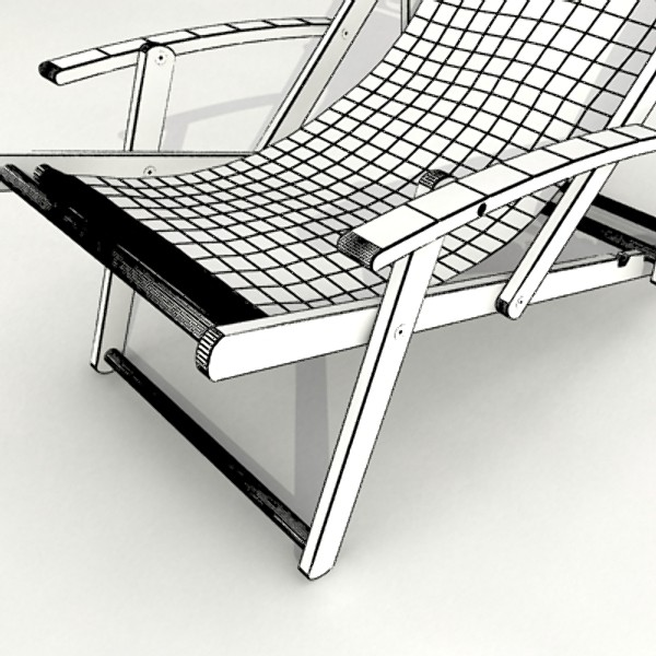 3D Model Beach Chair High Detail Realistic ( 88.88KB jpg by VKModels )