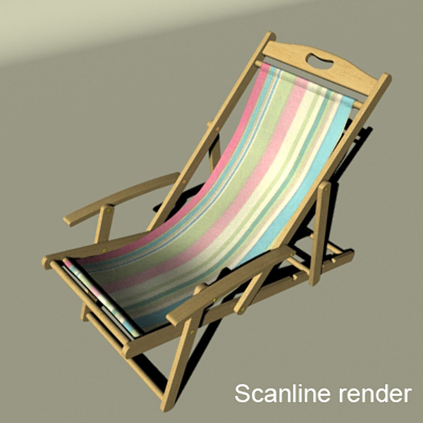 3D Model Beach Chair High Detail Realistic ( 68KB jpg by VKModels )