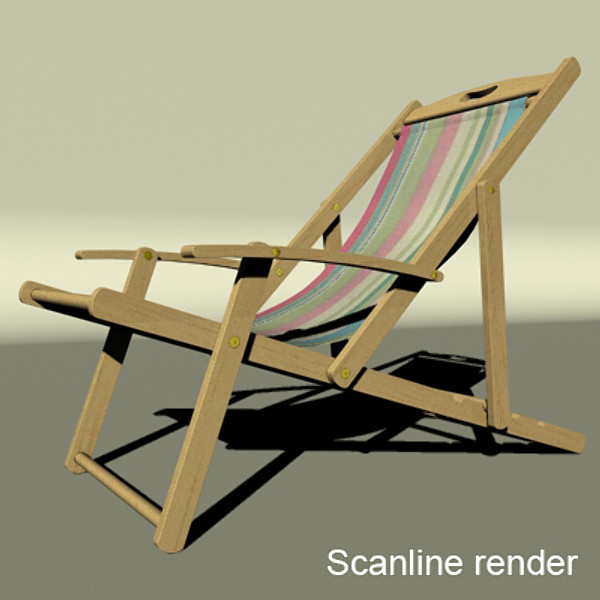 3D Model Beach Chair High Detail Realistic ( 60.04KB jpg by VKModels )