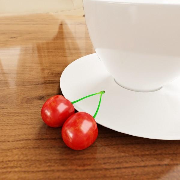 3D Model Cherries in Glass Bowl High Res ( 53.25KB jpg by VKModels )