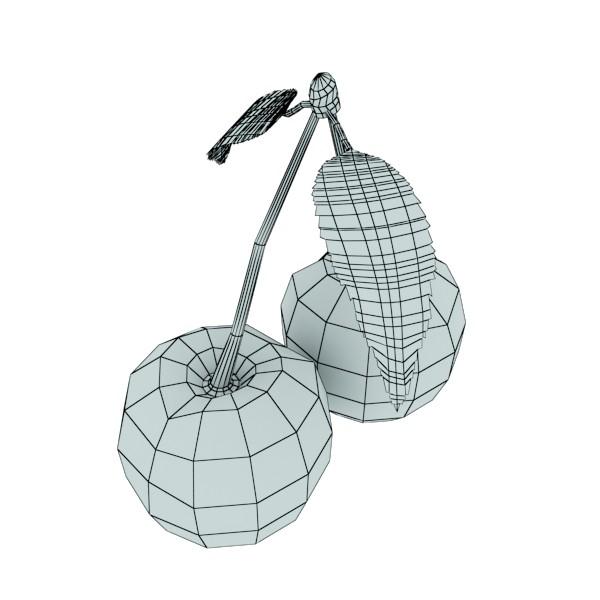 3D Model Cherries in Glass Bowl High Res ( 39.7KB jpg by VKModels )