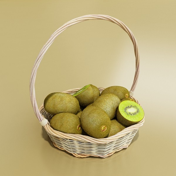 3D Model Fruits & Basket Collection ( 53.56KB jpg by VKModels )