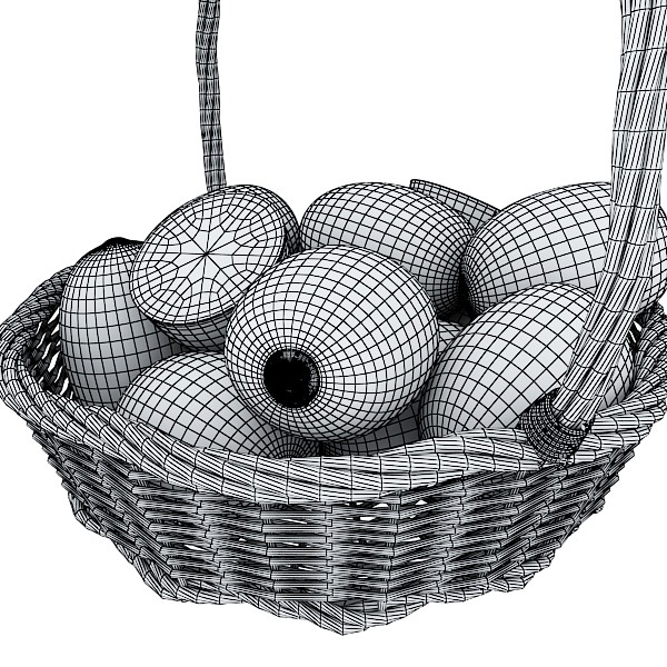 3D Model Fruits & Basket Collection ( 140.79KB jpg by VKModels )