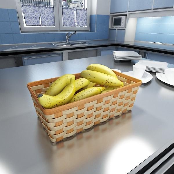 3D Model Fruits & Basket Collection ( 87.07KB jpg by VKModels )