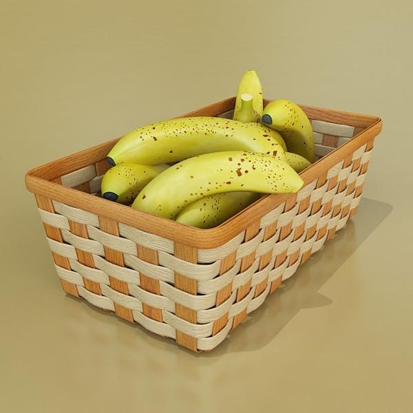 3D Model Fruits & Basket Collection ( 64.23KB jpg by VKModels )