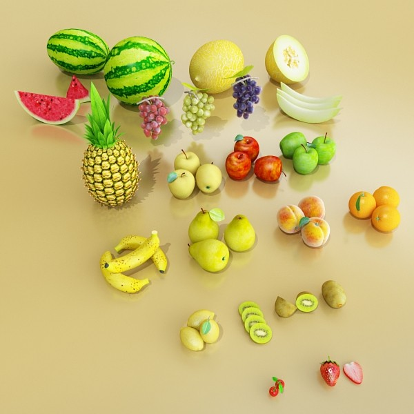 3D Model Fruits Collection High Res Textures 17 ( 60.46KB jpg by VKModels )