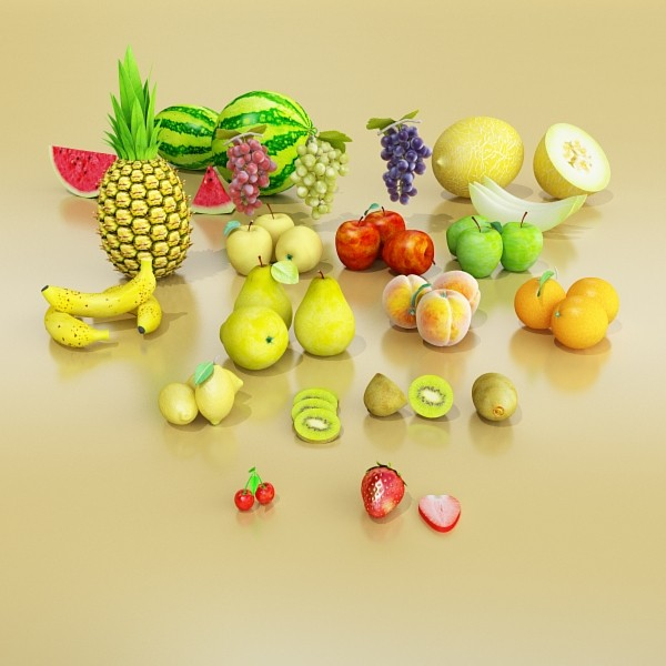 3D Model Fruits Collection High Res Textures 17 ( 59.96KB jpg by VKModels )