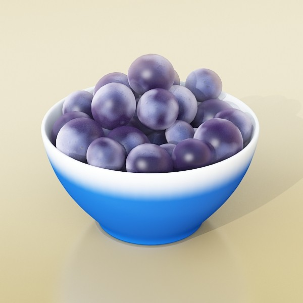 3D Model Grapes Collection High Detailed ( 35.73KB jpg by VKModels )