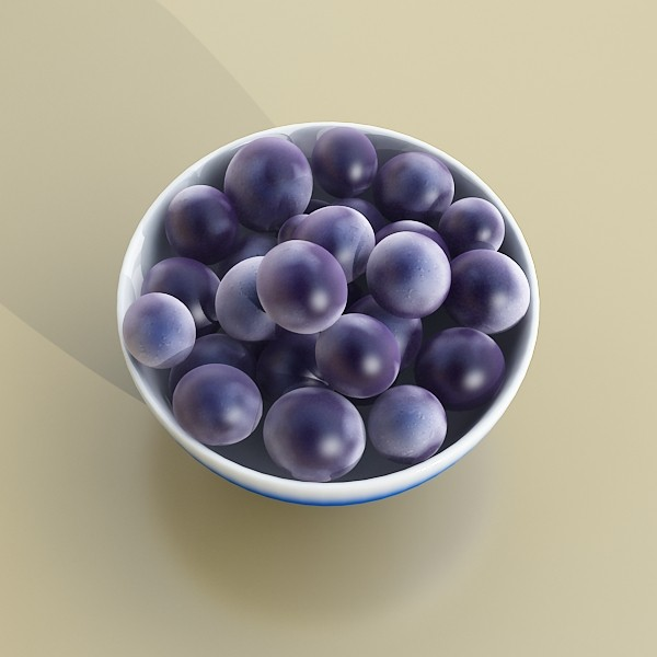 3D Model Grapes Collection High Detailed ( 39.4KB jpg by VKModels )