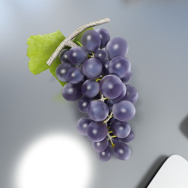 3D Model Grapes Collection High Detailed ( 46.86KB jpg by VKModels )