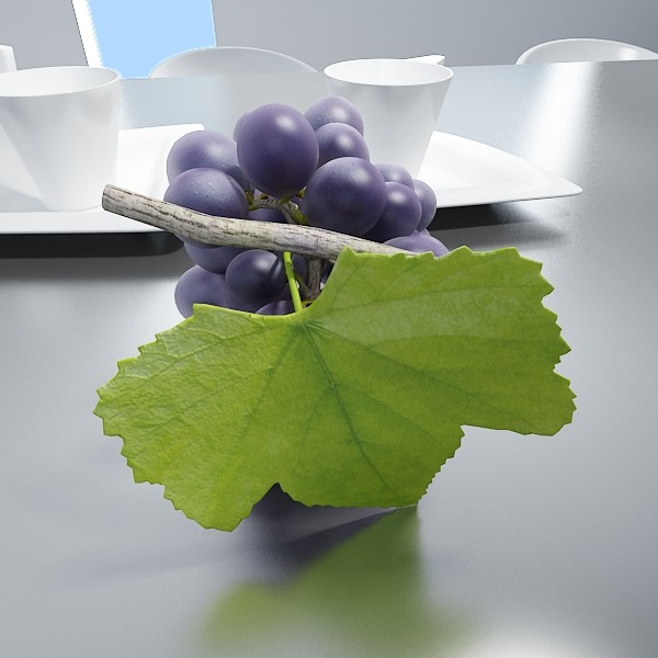 3D Model Grapes Collection High Detailed ( 52.49KB jpg by VKModels )