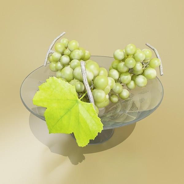 3D Model Green Grapes in Glass Bowl ( 43.29KB jpg by VKModels )