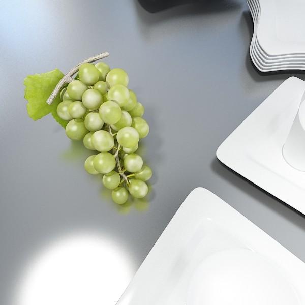 3D Model Green Grapes in Glass Bowl ( 43.78KB jpg by VKModels )