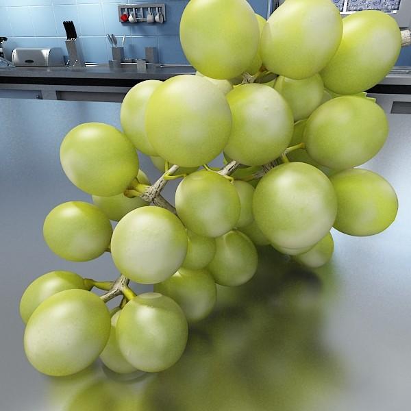 3D Model Green Grapes in Glass Bowl ( 68.96KB jpg by VKModels )