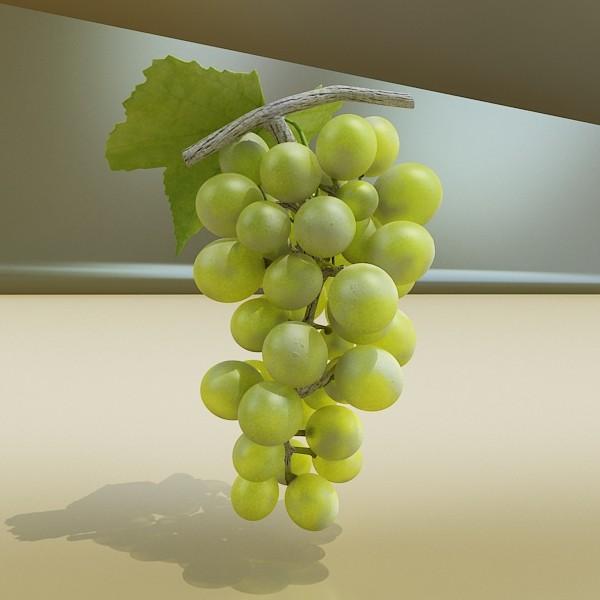 3D Model Green Grapes in Glass Bowl ( 46.3KB jpg by VKModels )