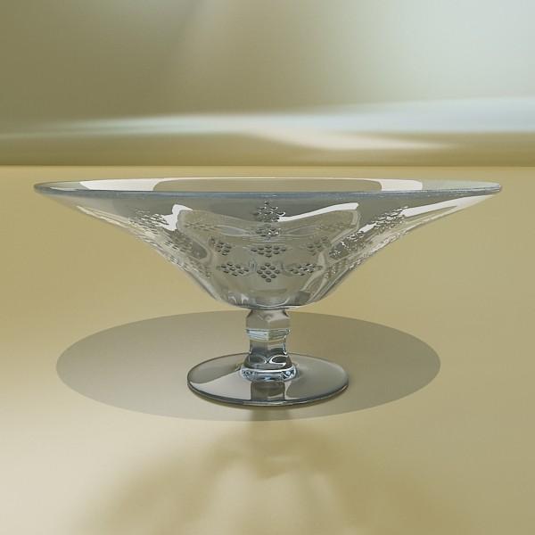 3D Model Green Grapes in Glass Bowl ( 40.34KB jpg by VKModels )