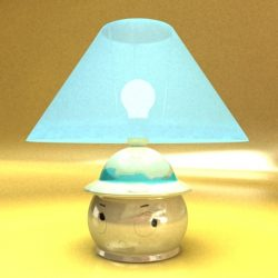 3D Model Little Table Lamp ( 48.96KB jpg by VKModels )