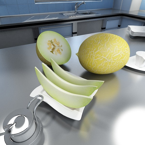 3D Model Melon High Res Textures ( 70.19KB jpg by VKModels )