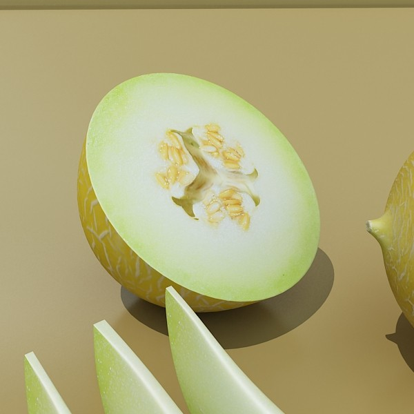 3D Model Melon High Res Textures ( 40.55KB jpg by VKModels )